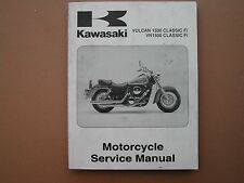 kawasaki vn1500 vulcan1500 classic factory service manual part no. 99924-1260-01