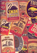 WA: VINTAGE  BEER LABELS: SWAN LAGER & EMU EXPORT  (14) LOW  RESERVE