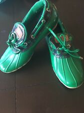 Sperry Top-Sider Cormorant Rubber Shoes - Slip-Ons (For Women) Green Size 7