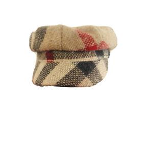 Burberry Plaid Newsboy Toddler Unisex Hat Cap 50