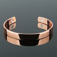 Pure Copper Health Care Magnetic Therapy Open Cuff Bracelet Arthritis Men Women