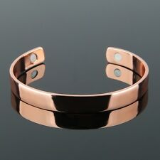 Pure Copper Magnetic Therapy Open Cuff Bracelet Pain Relief Arthritis Rose Gold