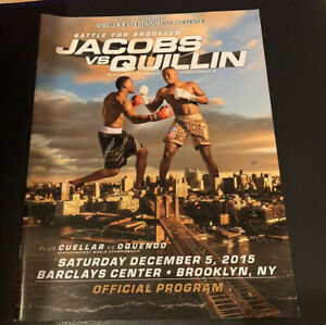 2015 Daniel Jacobs Kid Chocolate Rare Boxing Program With Rookie Card Vintage