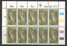 South West Africa  - Schakal - Jackal - Block of 12 - 26.04.1984 reprint