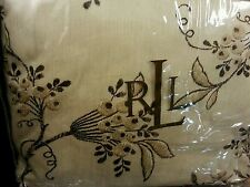 Ralph Lauren Plage D'Or Champagne 4  pieces with Brown Florals Queen Duvet Set