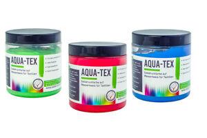 AQUA-TEX Siebdruckfarbe auf Wasserbasis - verschiedene Farben und Mengen