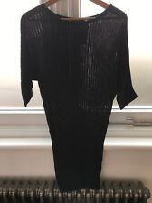 KOVA & T soie cashmere pull robe pull à rayures gris S nouveaux petits Neuf avec étiquettes