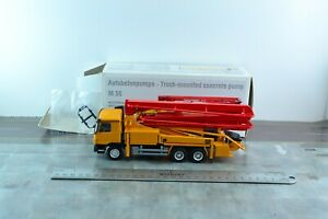 Conrad 40128 Mercedes M36 Putzmeister Concrete Pump Truck Diecast Metal 1/50
