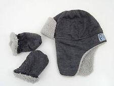 Boys' Fleece Patternless Baby Caps & Hats