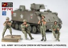 AFV Club Hobby Fan HF741 1/35 US M113 ACAV Crew Vietnam w/ Ammo Can Floor Layer