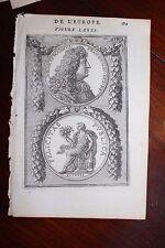 ✒ 1683 MANESSON MALLET Médaille Louis XIV Ludovicus Magnus
