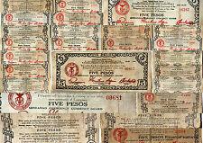 FILIPPINE WW2 banconota USA sous occupazione MINDANAO 5 PESOS 1944 circolato