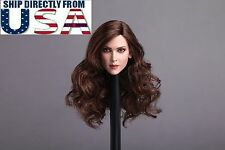 """NEW 1/6 Female Head Sculpt Long Curly Hair For 12"""" PHICEN Hot Toys Figure USA"""