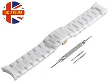 For EMPORIO ARMANI AR1416 Ceramic White Full Strap/Band/Bracelet Watch 22mm Mens