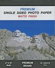 100 Sheets 8x10 Matte~Premium Brand Single Sided Photo Paper-9 Mil~New Item