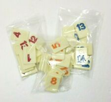 Mixed Lot of 35 Rummikub Replacement Tiles Number Orange Blue Red Vintage Crafts