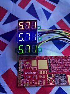 """⭐ Mini Voltmeter Tester LED Digital Display Voltage Meter Car 0.36"""" DC 0-100V ⭐"""