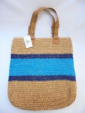 Straw Studios Crochet STRAW LARGE TOTE BAG NEW WITH TAGS