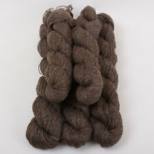 *250g*BRITISH WOOL MIX* 4 ply. Brown.100%.tweed.knitting yarn.grey.viscose.nylon