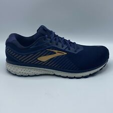Brooks Ghost 12 Mens Running Shoes Navy/Deep Water/Gold 110316-2E-489 Size 12 4E
