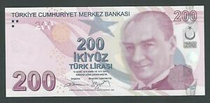 TURKEY 200 LIRA 2009 P-227b  UNC