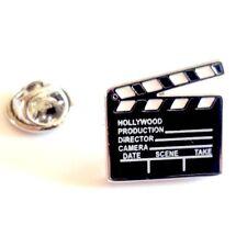 Hollywood Clapperboard Film Maker Pin Badge, Tie/Lapel Pin Badge (X2AJTP212)