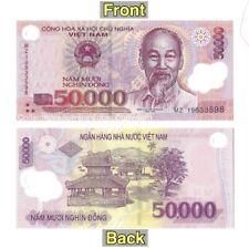 Vietnamese 50000 Dong Polymer Banknotes - Vietnam 50 000 Dong Uncirculated