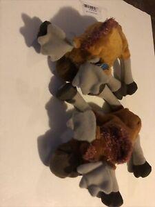 """Disney HASBRO Brother Bear TUKE & RUTT MOOSE 6"""" Bean Bag Beanie Stuffed 2003 New"""