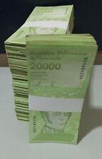 Venezuela 2019 / 2020 1 BRICK (1000) PCS 20000 Bolivares VF, XF USED
