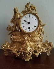 Anitque French Gold Gilt Mantel Clock