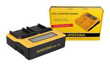 Caricabatteria rapido DUAL LCD per Sony GV-D200,GV-D800,GV-HD700E,HDR-FX1