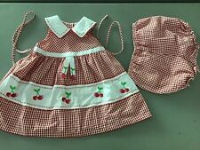 Youngland Dress, Size 24 Months.  Red Gingham Summer Picnic.  ~fast, Free Ship~