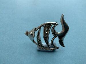 Silver Fish brooch