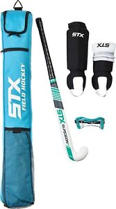 """New STX Surgeon Rookie 32"""" Field Hockey Starter Pack White/Blue"""