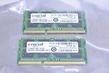 (2) Crucial 2GB DDR3 SDRAM Memory Module CT25664BF160BA 1600 SODIMM FH11527.X9