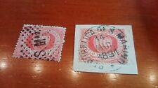 San Marino 1861 Cent.10 Annullo a Data e a Punti.