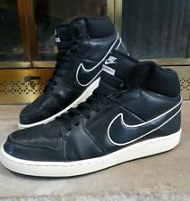 Vintage NIKE AIR Backboard II Basketball Shoes Black Leather 487656-006 Mens 10