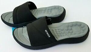 Crocs Women's Reviva Slide Sandals Black