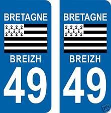 BREIZH 49 drapeau BRETAGNE 49 BRETON 2 Stickers.