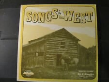 """Bar D Wranglers 'Songs of the West"""" - AUTOGRAPHED on Rear Cover - VINYL LP"""