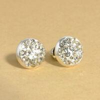 Fashion Cute Women's Pearl Crystal Rose Flower Stud Earrings Ear Jewelry New