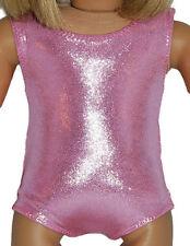 "SHINY PINK LEOTARD Dance/Gymnastics Doll Clothes Fits 18"" American Girl Dolls"