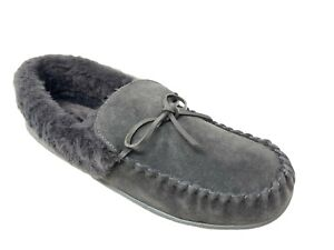 Clarks Women's Plush Faux Fur Lined Moccasin House Shoe Indoor & Outdoor Slipper