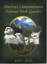 America's Commemorative National Park Quarters 2010-2021 Coin Folder *NEW*