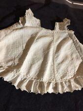 ANTIQUE cotton dress  for FRENCH doll Jumeau Steiner Bru antique lace size 9-10