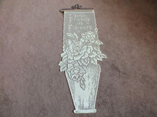 Collectible Beautiful Lace Wall Hanging Off White Friends 26 x 9.5 + Hanger Nice