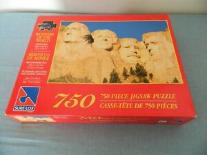 New Puzzle Wonders Of The World Mt.Rushmore South Dakota 750pcs Age 12 to Adult