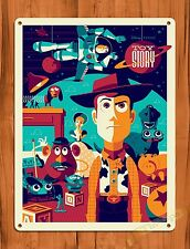 """TIN SIGN """"Toy Story"""" Disney  Blue Art Painting Movie Ride Poster"""