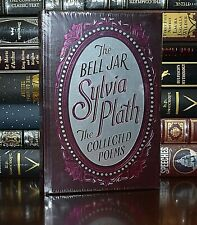 New Bell Jar Collected Poems by Sylvia Plath Sealed Leather Bound Collectible