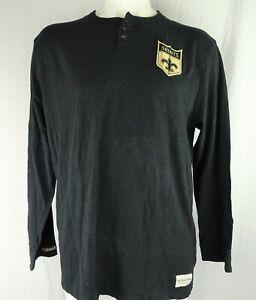 New Orleans Saints NFL Mitchell & Ness Men's Long Sleeve Henley T-Shirt